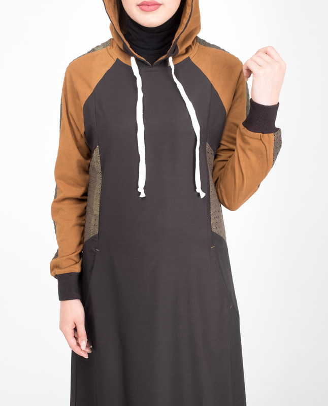Brown sporty jilbab abaya