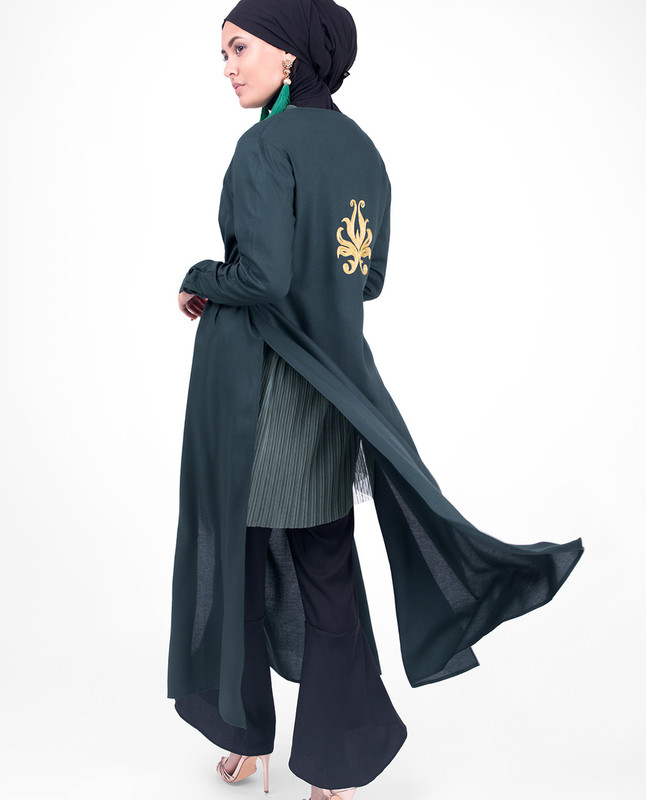 Black & Gold Embroidery Outerwear
