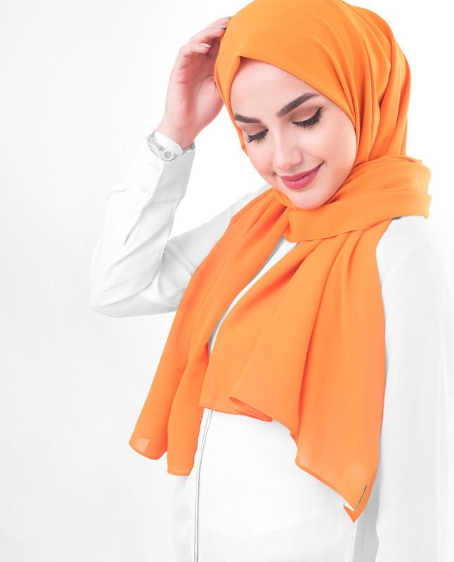 Orange hijab scarf fashion
