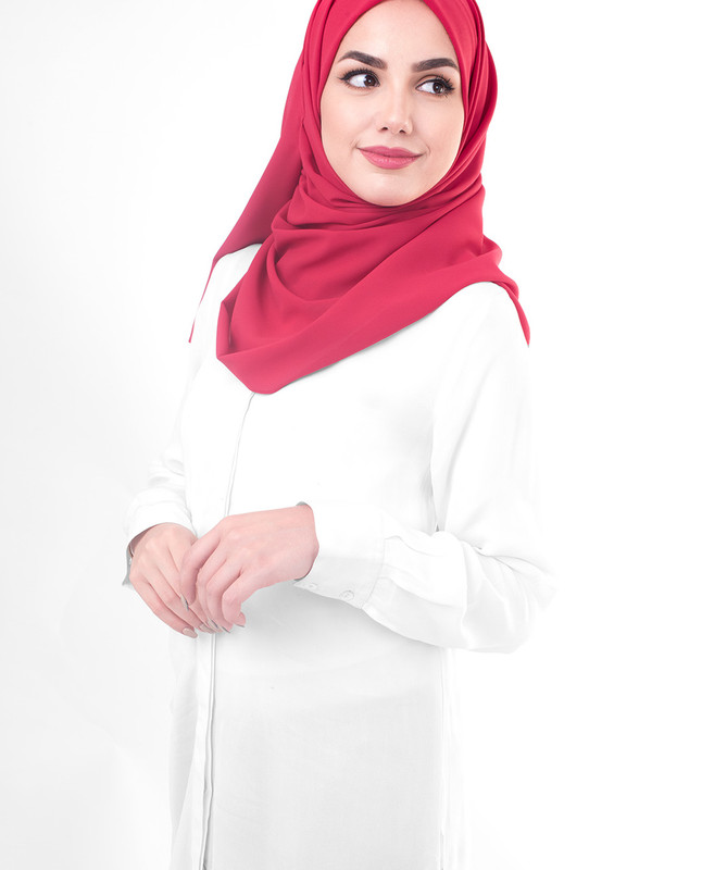 Simple red hijab scarf