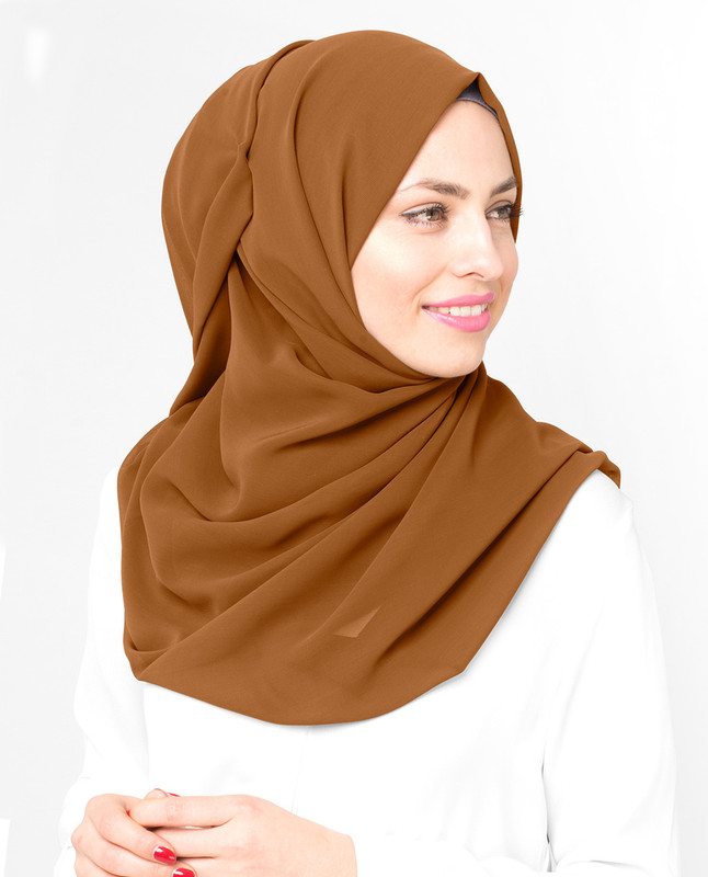 Light brown hijab scarf