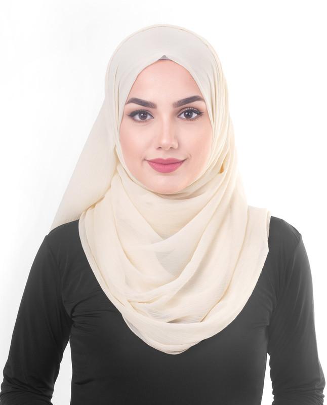 Beige hijab scarf