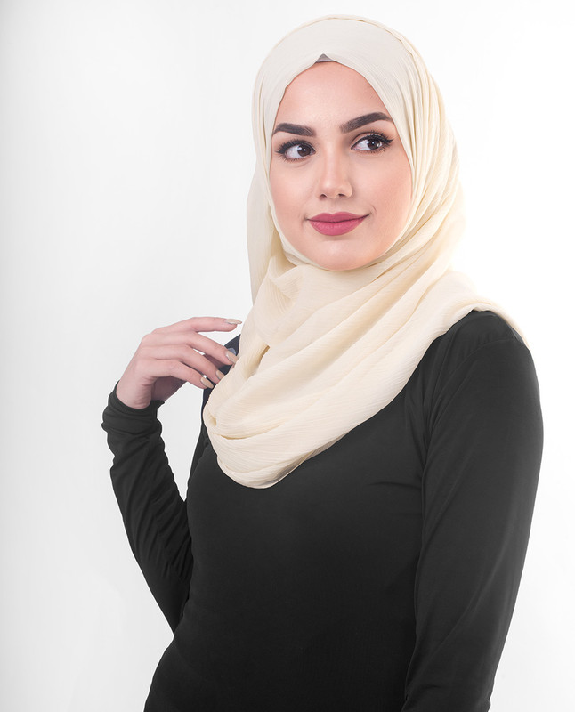 brown and beige scarf hijab