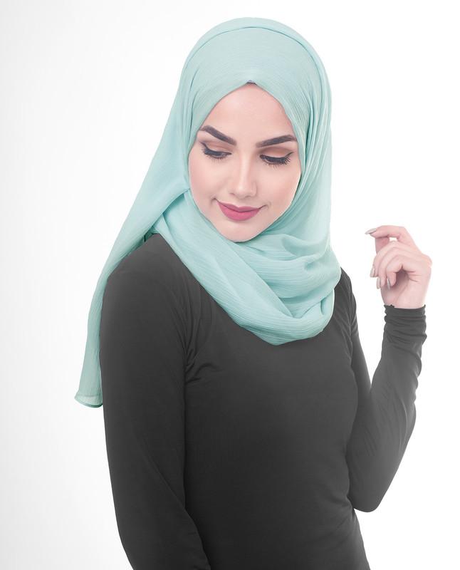 Blue stylist hijab scarf