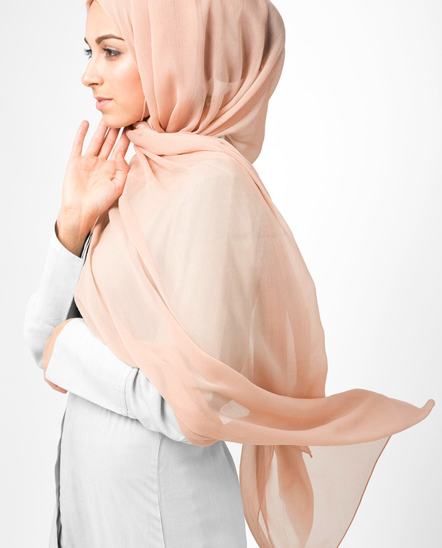 Pink hijab fashion scarf