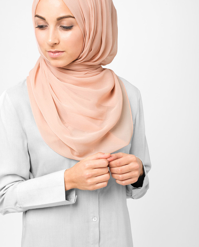 Pink hijab style scarf