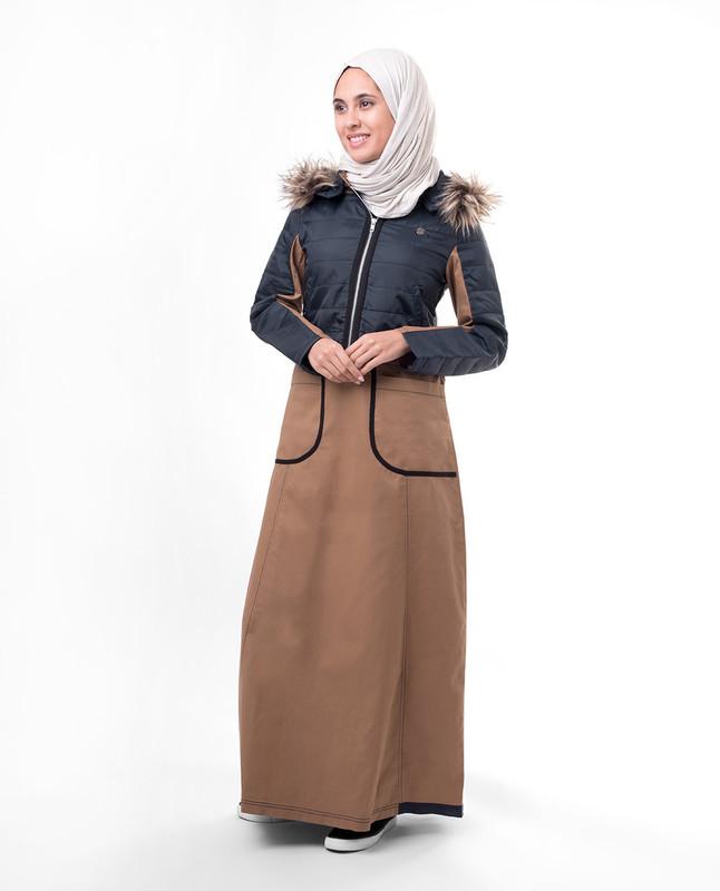 Winter style abaya jilbab