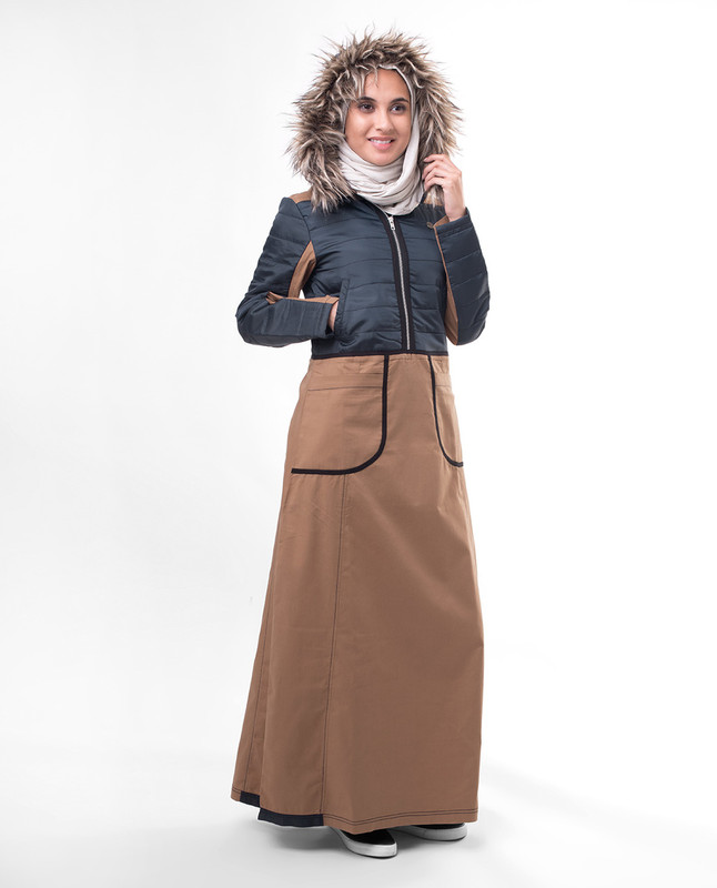 Snow weather abaya jilbab