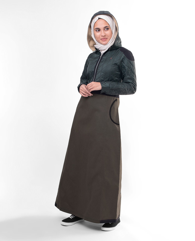 Detachable hood winter abaya jilbab