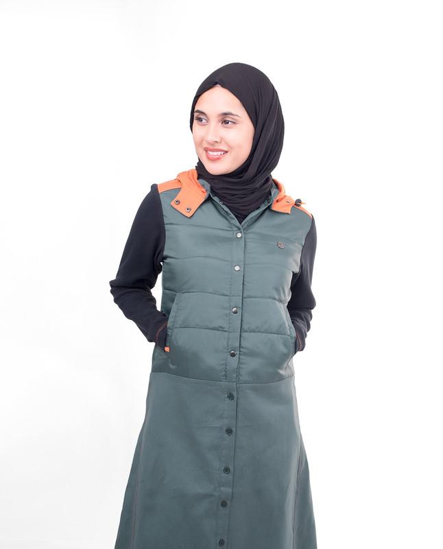 Front open winter abaya jilbab