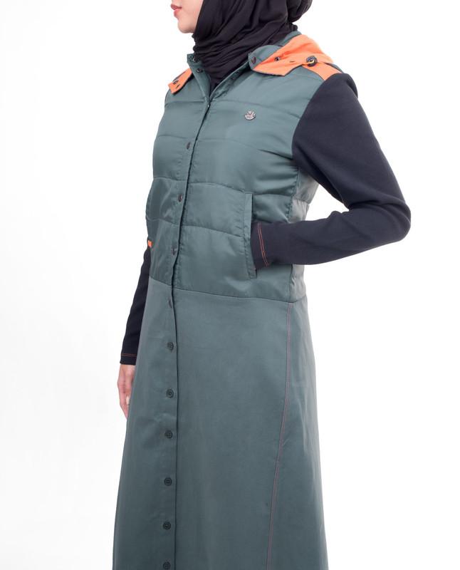 Comfy blue abaya jilbab