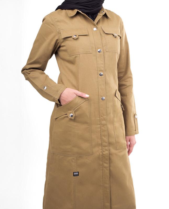 Side pockets winter abaya jilbab