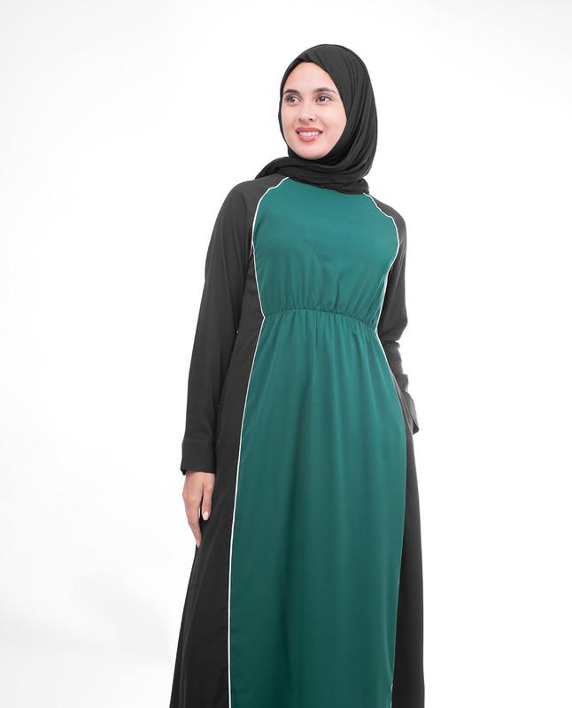 Wide neck abaya jilbab