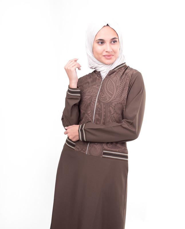 Front zip opening abaya jilbab