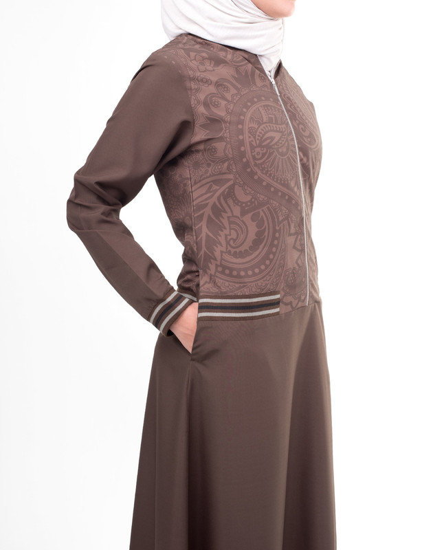 Side pockets abaya jilbab