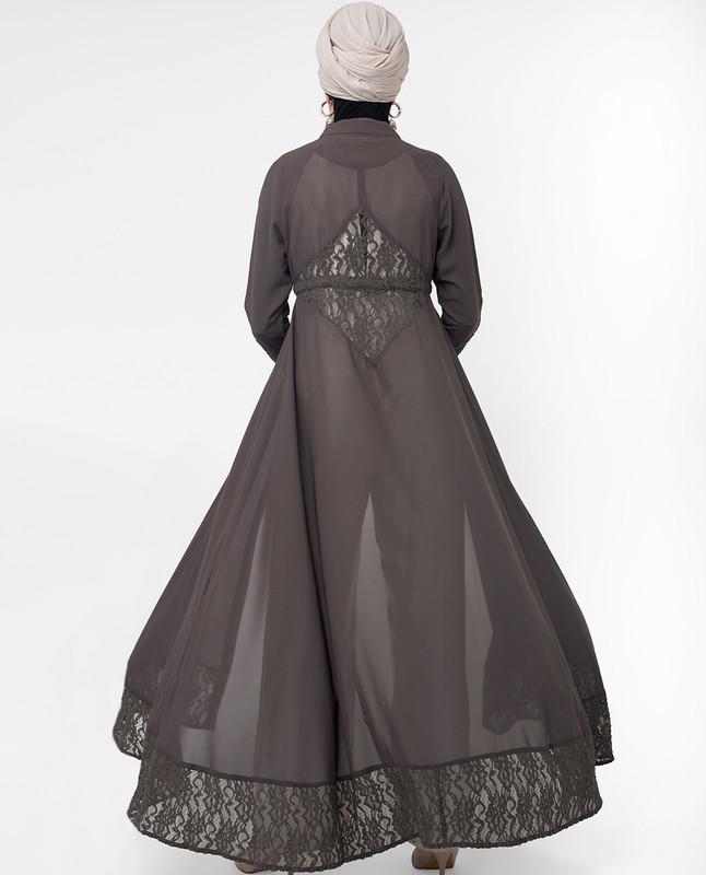 brown outerwear,kimono