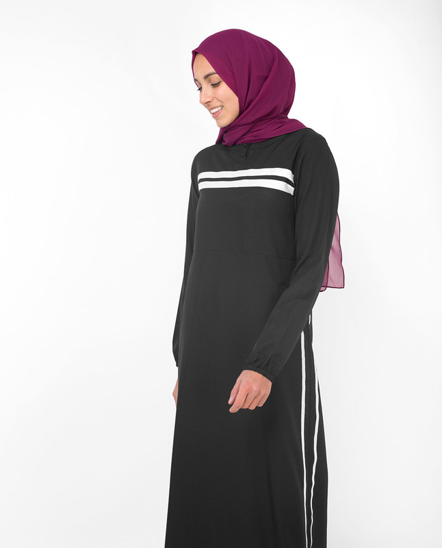 Classic Black Sister Jilbab