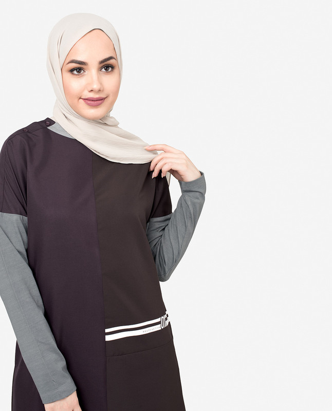 Drop Shoulder Plum Jilbab