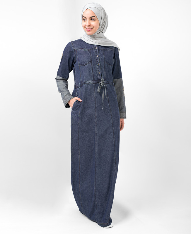 Two Tone Denim Jilbab