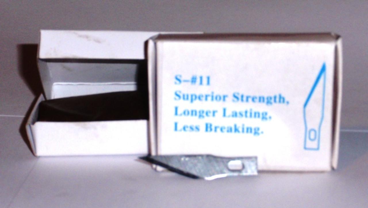 Exacto Knife Blades 11 M Blade 100 Bulk Box S-11 , fls-s-11m
