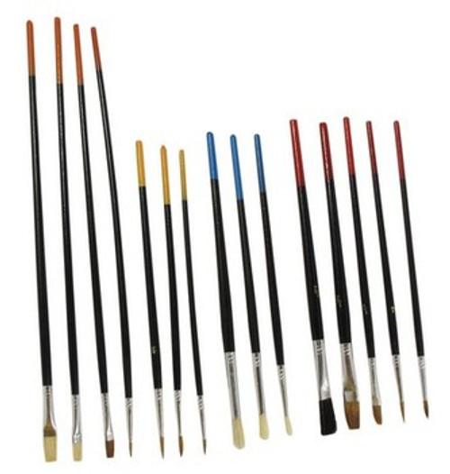 Art Brush, Set of 15, Paint Brushes, so-30515AB