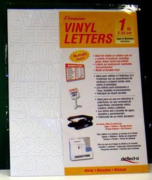 """Vinyl Lettering, White 1"""" Adhesive Letters, Interior Exterior , vinyl-white"""