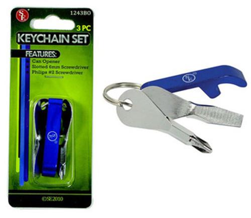 Screwdriver Key Chain Set w/ Bottle Opener so-1243BO
