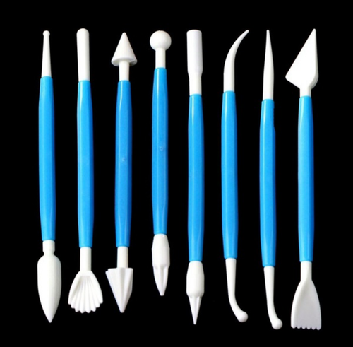 8pc Sculpting and Modelling Tool Set for Fondant and clay