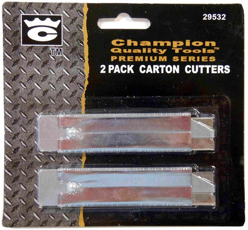 Utility Knife, Boxcutter, metal, Carton Cutter, 2 pack, 29532