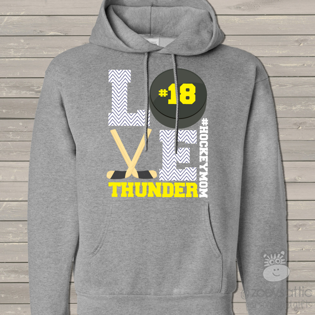 Hockey mom hoodie sweatshirt LOVE
