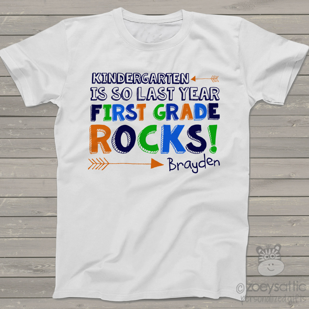 Kids School Shirt Funny Back To School First Grade Tshirt