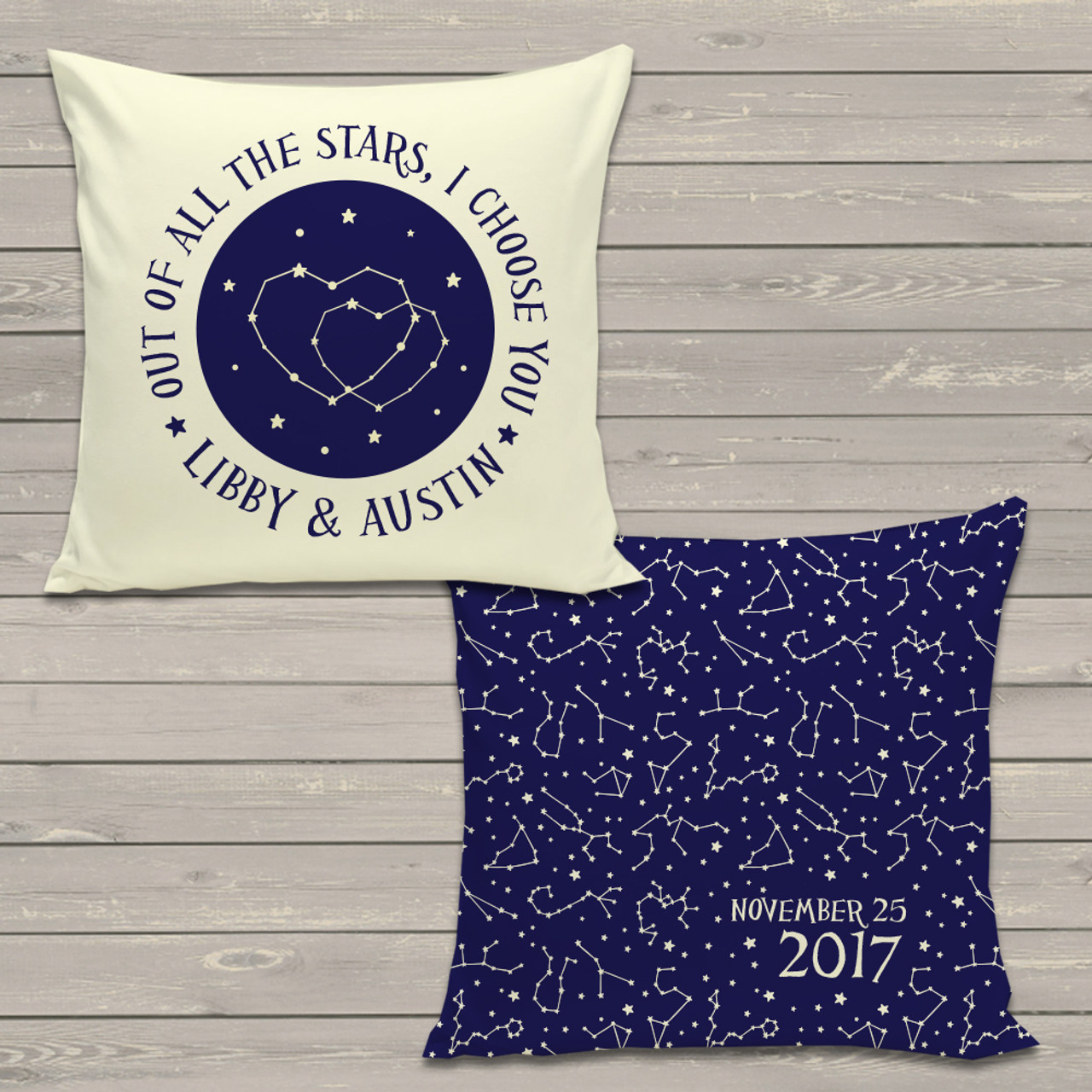 Wedding Gift Pillow Night Sky Constellation Throw Pillowcase