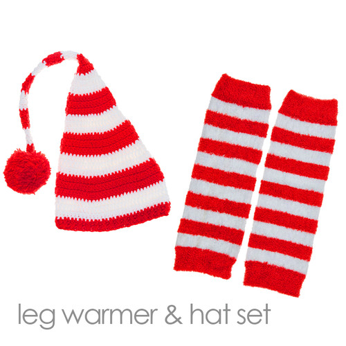 Baby's knit hat and leg warmer set