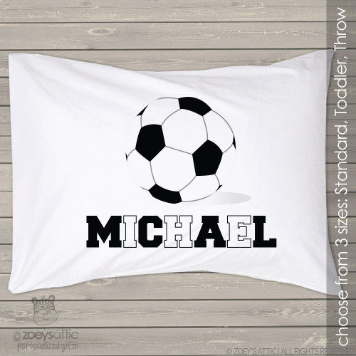 Soccer ball sports theme personalized pillowcase / pillow