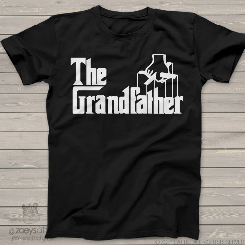 "Grandpa shirt funny parody ""The Grandfather"" custom DARK Tshirt"