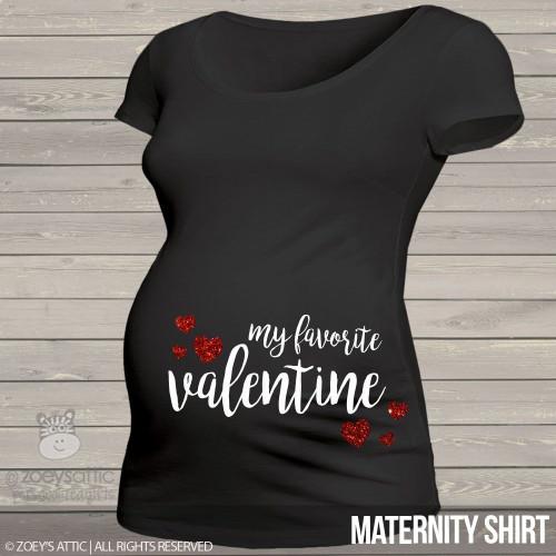 Valentine favorite sparkly hearts side print DARK maternity top