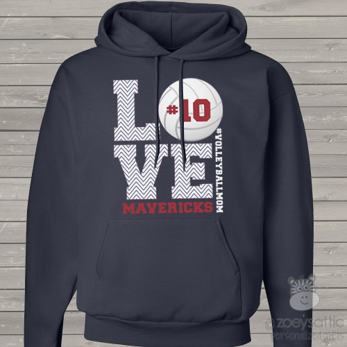 Volleyball mom hoodie sweatshirt LOVE