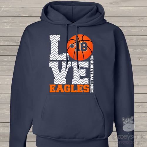 Basketball mom hoodie sweatshirt LOVE
