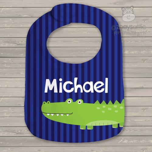 Alligator crocodile personalized bib