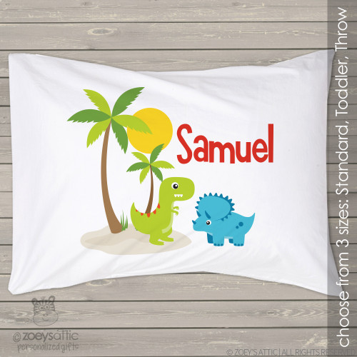 Dinosaur personalized pillowcase / pillow