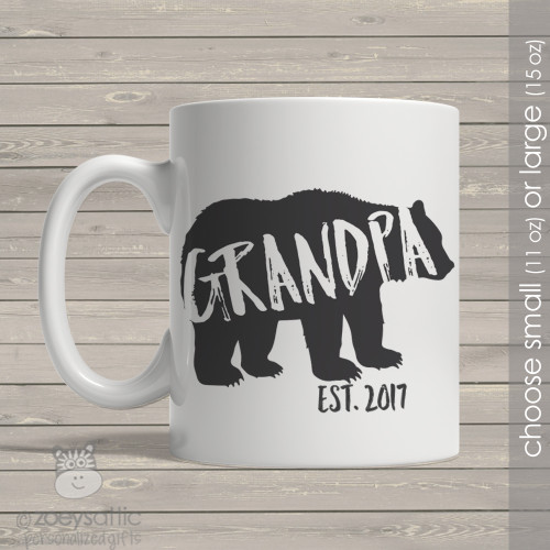 Grandpa established bear coffee mug