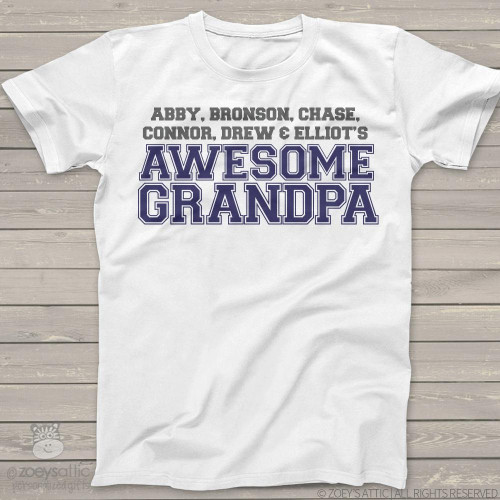 Awesome grandpa personalized Tshirt