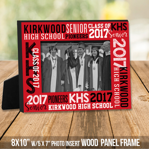 Personalized school photo frame