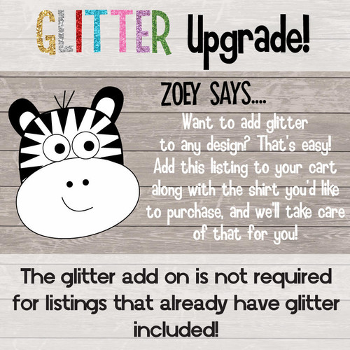 Glitter or Foil Vinyl Add On Upgrade Fee