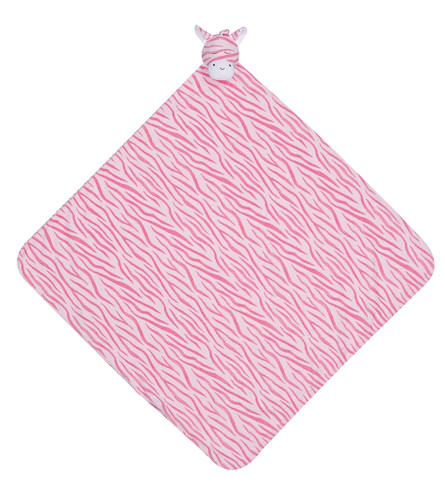 Pink Zebra Napping Blanket by Angel Dear