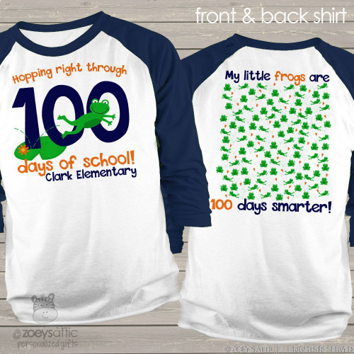 Teacher 100 days smarter frogs unisex adult raglan shirt