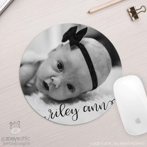 Personalized photo round / circular mousepad