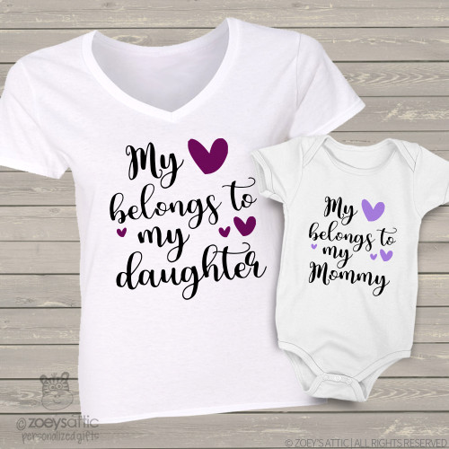 Shop by occasion other holidays mothers day gifts mom baby my heart belongs mom daughter matching shirt gift set negle Images