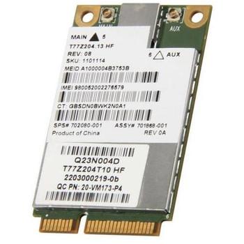 702080-001 HP UN2430 Gibi 3000 EV-DO / HSPA 3G Wireless Broadband Mini Card