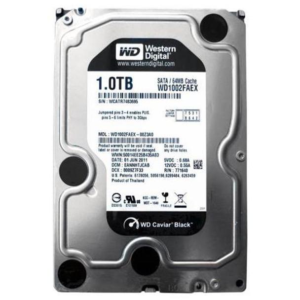 WD1002FAEX Western Digital 1TB 7200RPM SATA 6.0 Gbps 3.5 64MB Cache Caviar Hard Drive